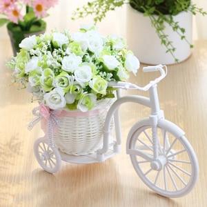 Image 4 - מתנת חג אהבת ראטאן אגרטל + פרחי מטרים אביב נוף עלה מלאכותי פרח סט בית חתונת קישוט יום הולדת מתנה
