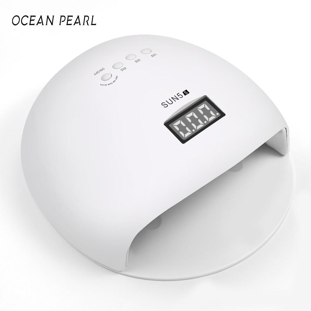 OCEAN PEARL 48W UV Nail Dryer LED Lamp UV Lamp Double light motion sensor Manicure Nail Lamp UV Gel Polish Nail Art Tools sun5s