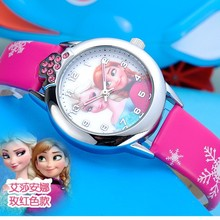 Hot New relojes Cartoon Children Watch Princess Elsa Anna Watches
