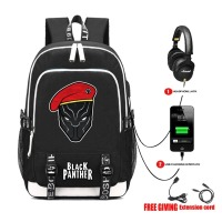 USB Charge Headphone Jack Boy Backpack Students bookbag Teenagers travel laptop bag Black Panther Backpacks 25 style