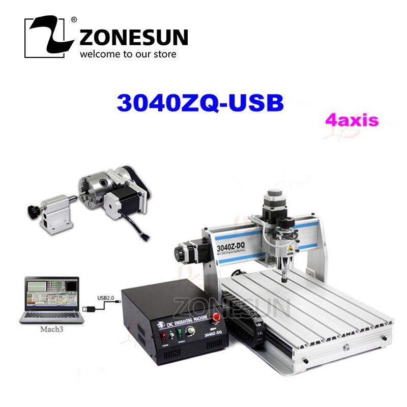 3040Z-DQ 300W USB 4axis CNC drilling milling machine cnc 3020t d300 4axis router drilling and milling machine