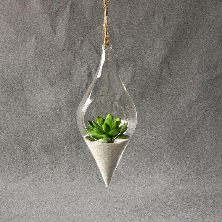 Hanging Glass Vase Hanging Terrarium Flower Clear Hanging Vase Home Decor