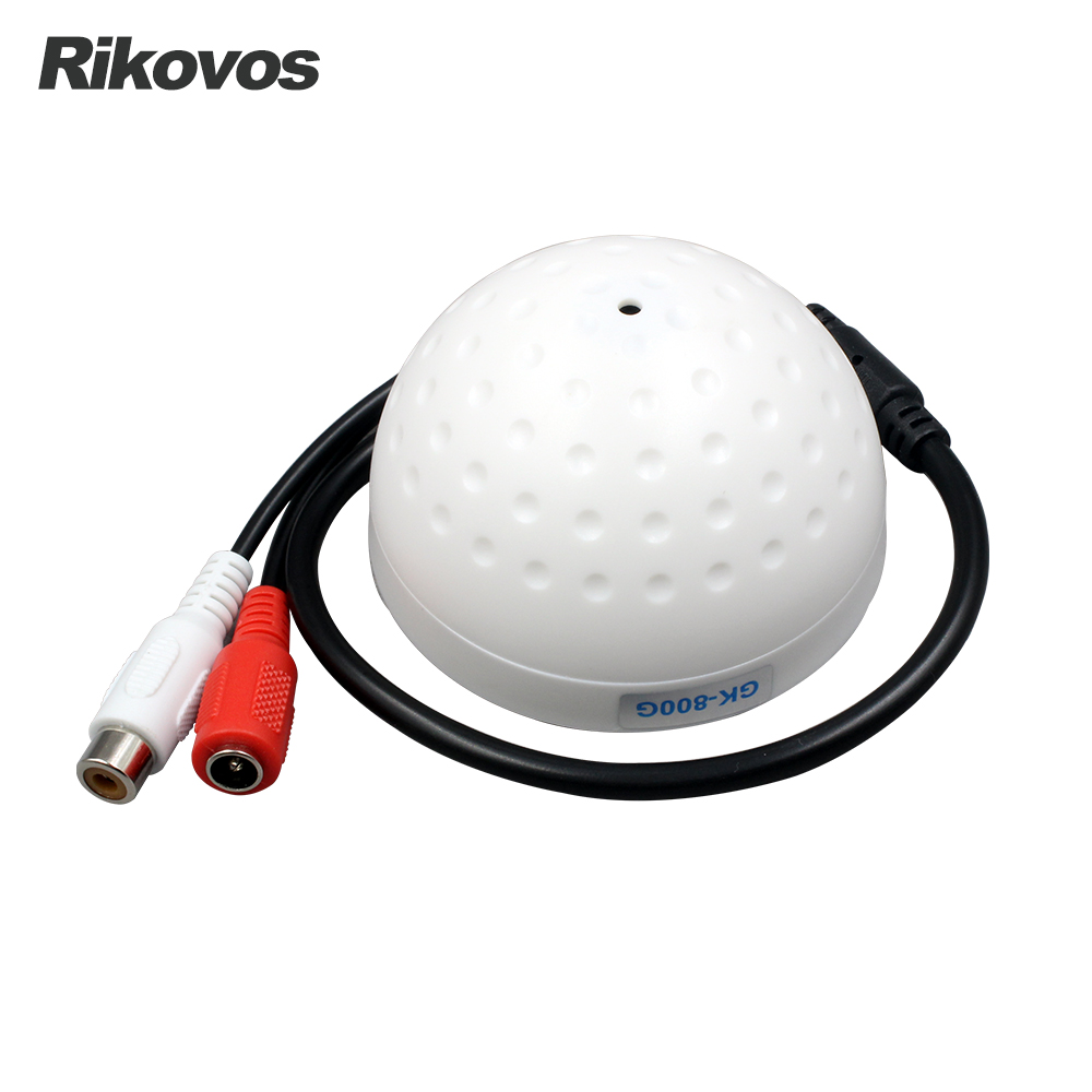 Rikovos audio pick up mini micrófono para CCTV cámara de seguridad RCA salida de audio
