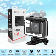 SJCAM SJ8 PLUS Action Camera 4K/30FPS 12MP Sports Cam with EIS 170 degree Wide Angle Touch Screen 1200mAh Battery for Underwater