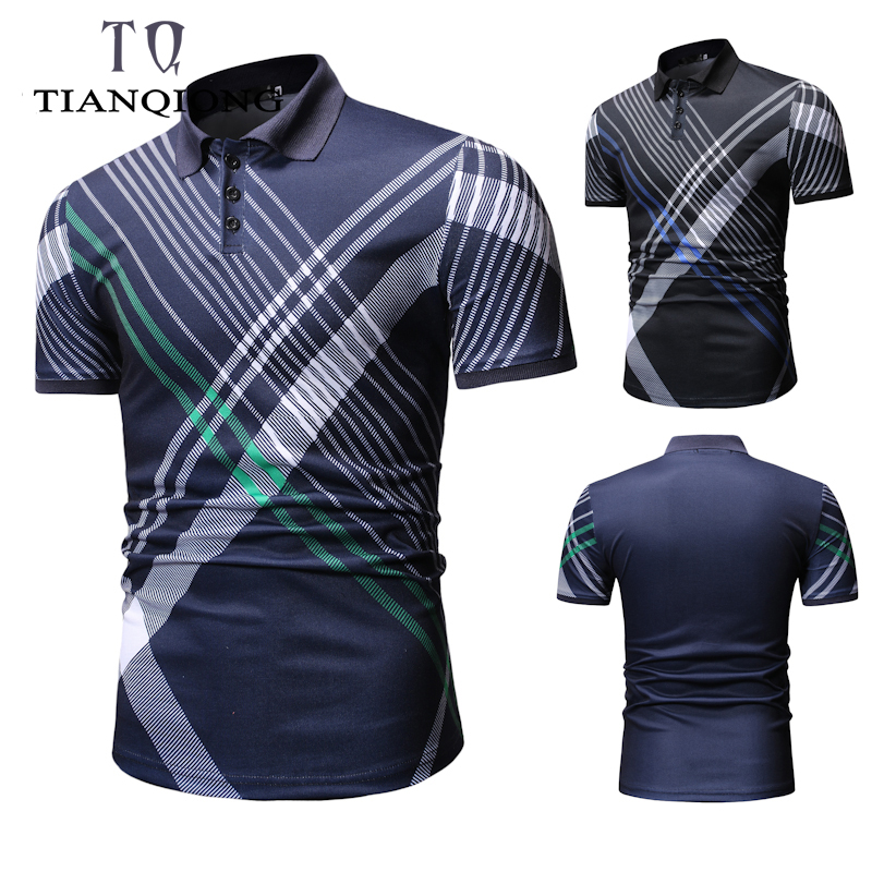 2019 New Fashion Slim Fit Polo Shirt Men Polo For Boy Mens Polo Shirts With Short Sleeve Solid Color Button Summer Brand Clothes
