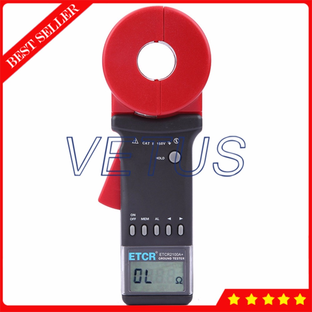 ETCR2100A+ Digital earth resistance measurement of loop resistance tester meter zl06 1a 2a resistance load measurement data line artifact measurement of internal resistance of charging wire type c
