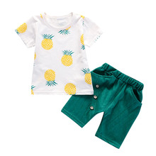 Summer Boy Pineapple Shirt and Short Outfit Set