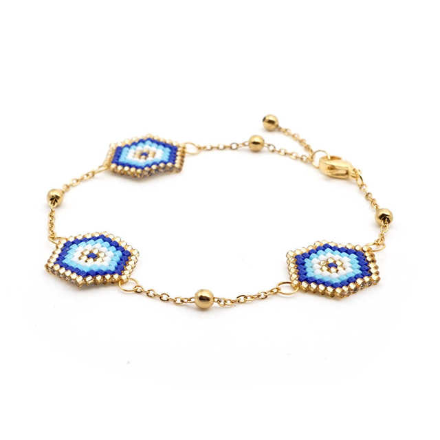 Go2boho Evil Eye Bracelet For Women MIYUKI Bracelets Gold Chain Pulseras Mujer 2019 Jewelry Insta Fashion Bijoux Stainless Steel