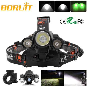 BORUiT LED Headlamp Bicycle light 3-Mode IPX5 Headlight RJ-1156 XML L2 Green LED Cycling Light Head Torch Out Door light sitemap 143 xml page 3