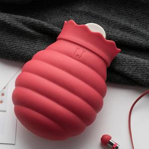 Image 4 - Youpin Jodan Judy 313/620ml Hot Water Bag Microwave Heating Silicone Bottle Winter Heater With Knitted Cover