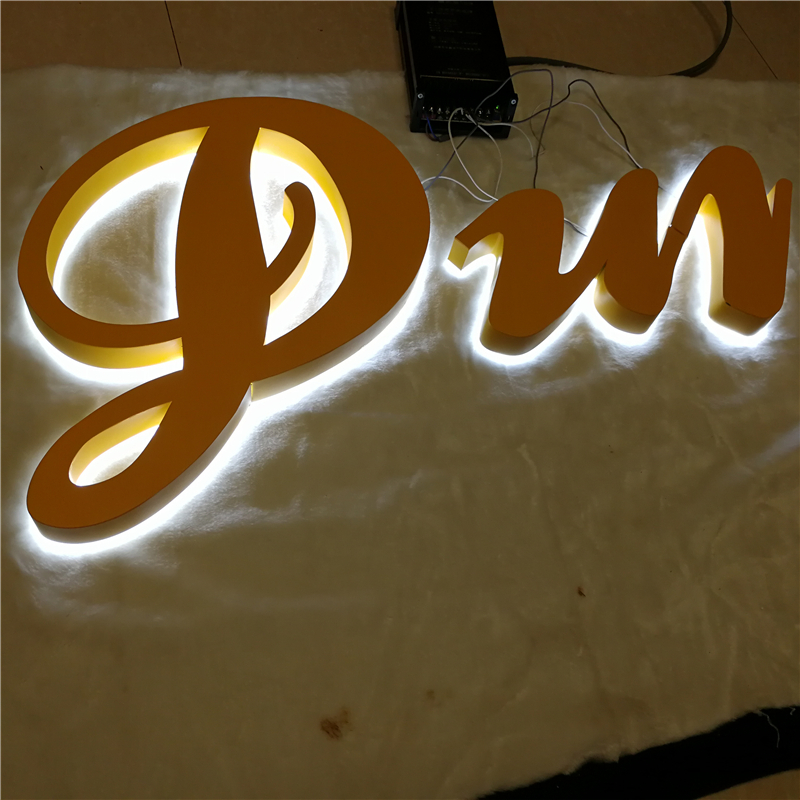Factory Outlet Stainless Steel Led Commercial Signs, Backlit Led Channel Letterings For Shop Front Name Signages