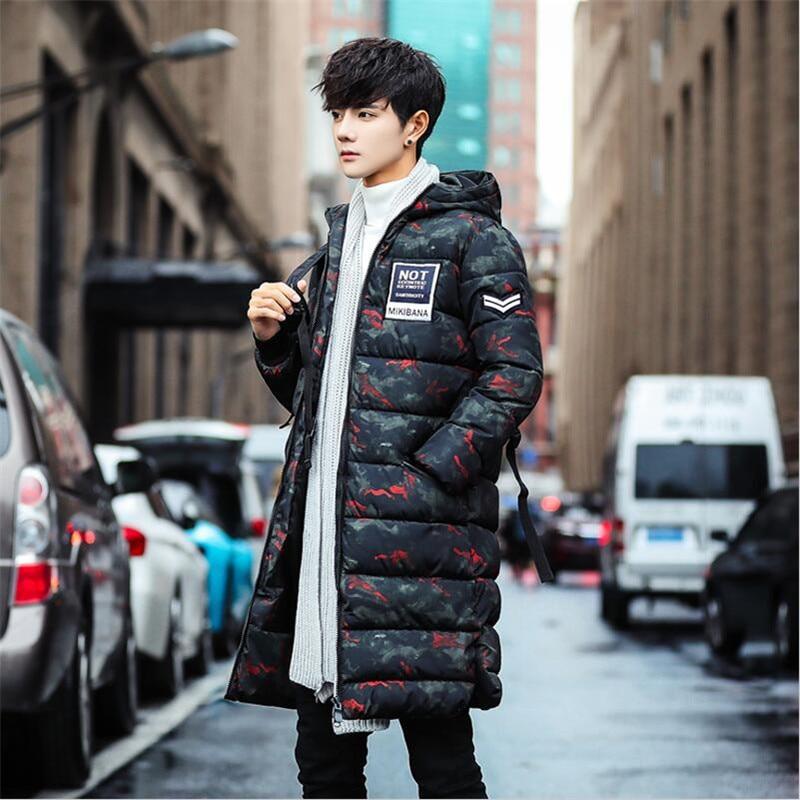 Grande Mâle Outwear Hommes À D'hiver rouge De Parka Camouflage Green Chaude Haute Manteaux 2018 Long Manteau Veste 3xl Capuchon Épaisse army Noir Taille Parkas Qualité 7rHqw7