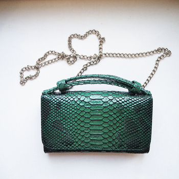 TOPHIGH Luxury Cowhide Leather Clutch Shoulder Cross-body Bag Small Crocodile Pattern Genuine Leather Clutch Chain Women's Gift