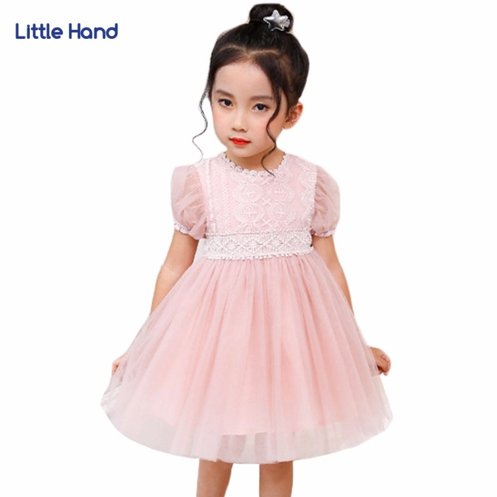 Kids Girls White Lace Dress Pink Baby Girl Dresses Mesh Children Princess Ball Gown Birthday Party Wedding Clothes Vestidos цена