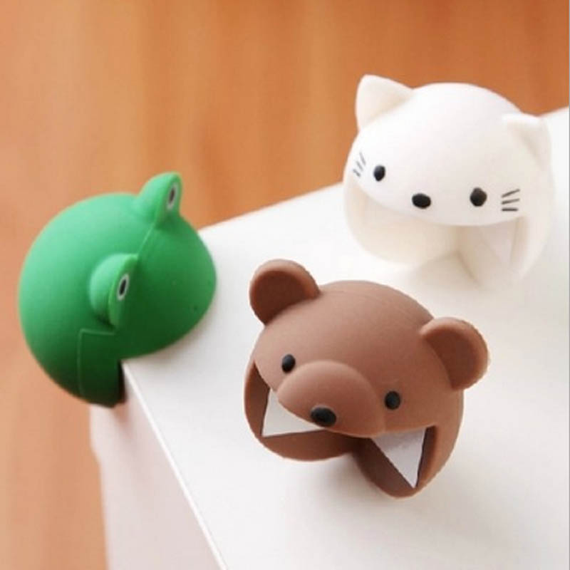 Free Shipping 4 Pcs Per Lot Silicone Pretty And Colorful Animal Cartoon Baby Safety Corner Protector