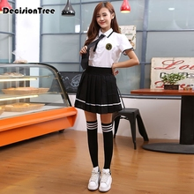 2016 hot students suit Ms. pleated skirt scholl japanese school uniform korean uniforme japones dolly