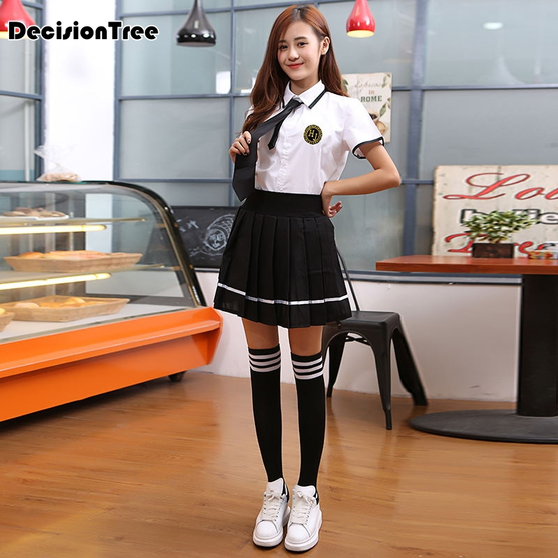 2020 Korean Women Students Suit Skirt Japanese JK cosplay Cute Female Cotton Short Uniforms Sets Korean School Girls Uniform|korean school girl uniform|girl uniform|school girl uniform - title=