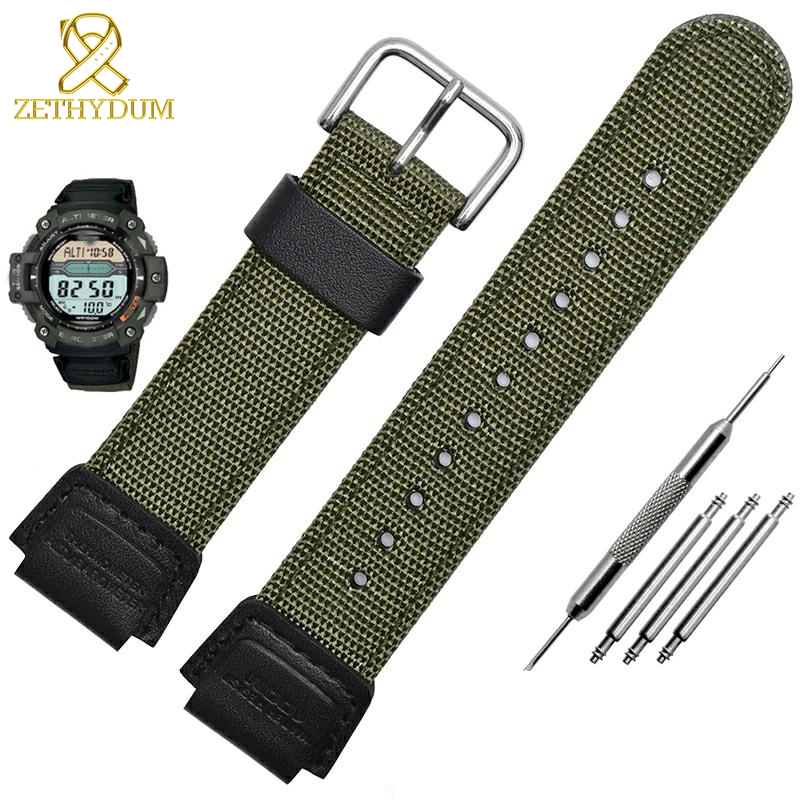 Canvas Watch Bracelet 18mm Watch Strap Suitable For Casio AE-1200WH-1B/SGW-300H/400/SGW-500 8/5000 Band Nylon Watchband 16mm