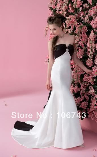 free shipping 2016 new style hot sale Sexy real picture sweet princess Custom size Small tail handmade bow mermaid   prom     dress