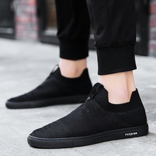 2018 Spring/autumn New Sneaker Men Fly Knit Shoes Breathable Casual Comfortable Cover Feet Netting Size 39-44 5