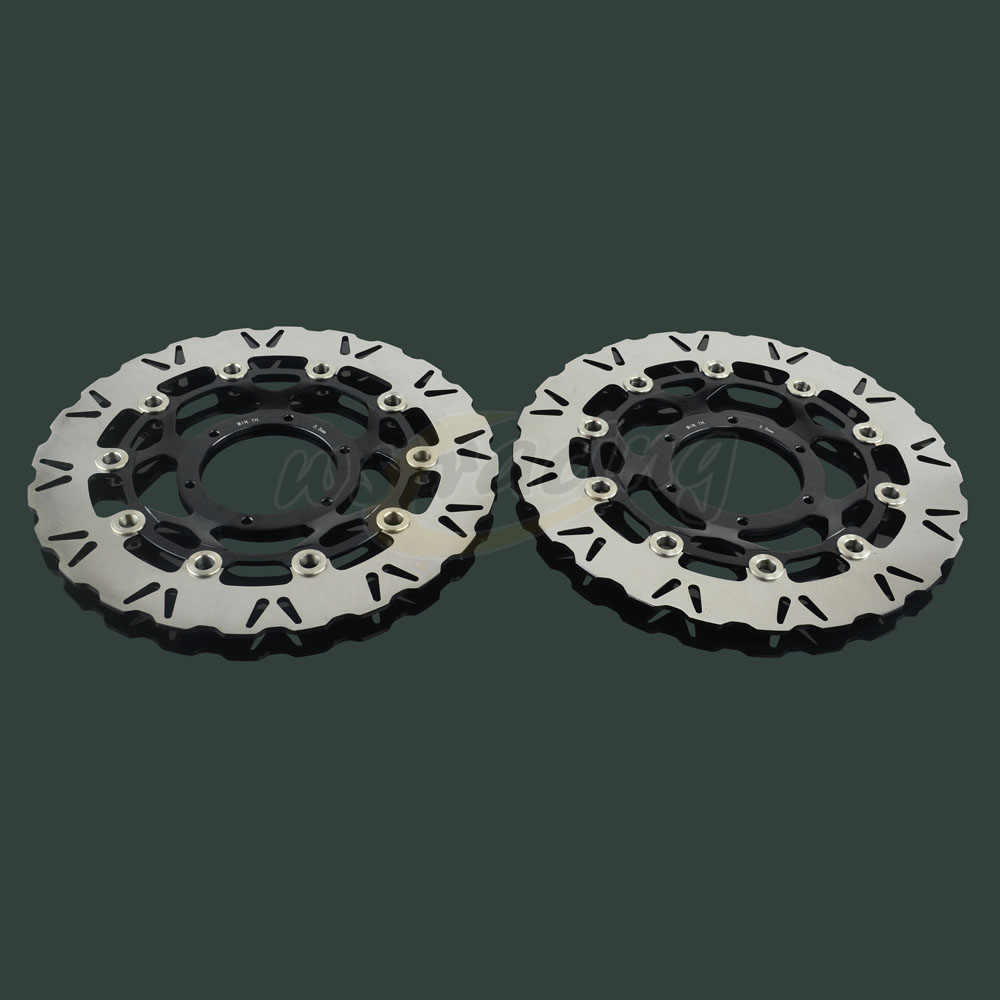 2 Pcs Outer Diameter 320MM Stainless Steel Front Floating Brake Disc Rotor For HONDA CBR1000RR 2006-2007 VTR1000 SP1 SP2 keoghs real adelin 260mm floating brake disc high quality for yamaha scooter cygnus modify
