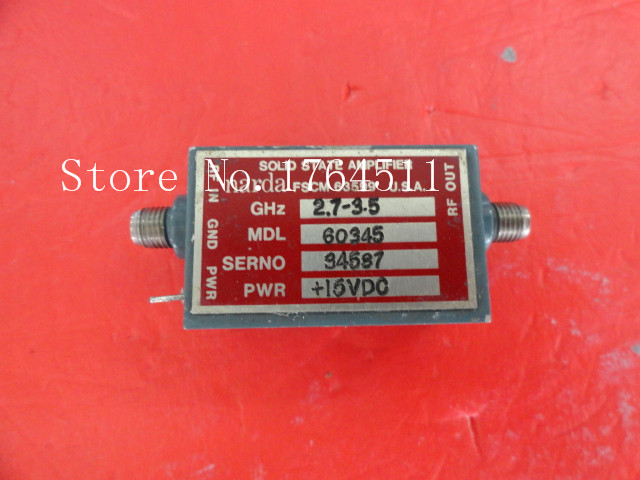 [BELLA] NARDA 60345 2.7-3.5GHz (3-4GHz) 15V SMA Amplifier