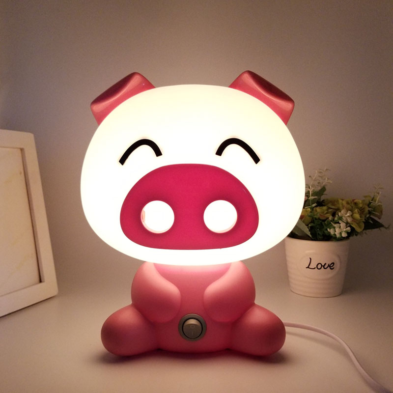 Lovely Pig Lights Modern Cute Baby Bedroom Lamp Night Light Led Night Lamp Christmas Gift Bedside Decor Kids Desk light top 2 74m brave spinning fishing rod fuji guides 98