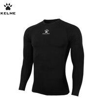 KELME Futebol Dos Homens Camisa de Mangas Compridas De Futebol Jerseys Camisa Do Edifício Do Corpo de Fitness Confortável Quick-secagem K15Z705