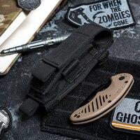 OneTigris тактический MOLLE складной нож ремень Оболочка EDC инструмент сумка Одиночная оболочка пистолет Mag Чехол для фонарика чехол