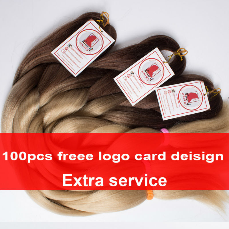Qp Hair Crochet Braid Ombre Två Tone GRAY OMBRE JUMBO Pre Braiding - Syntetiskt hår - Foto 6