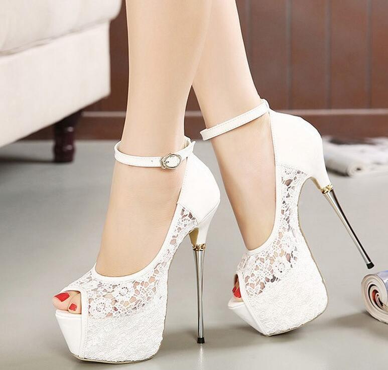 2016 New Women's Pumps Lace Pumps Women Party Shoes