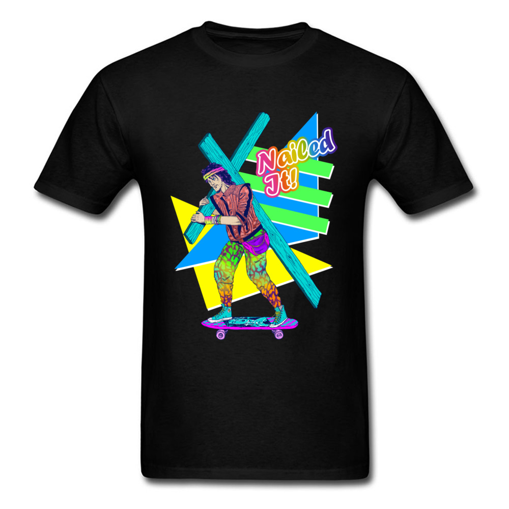Gehorsam Dauerhafte Charme Genagelt Es Kühlen Skateboard Mann Farbige Schwarz Sport T-shirt Skater Straße Tragen Männer Persönlichkeit Party T Hemd