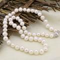 Новая мода hot 8-9 мм белый подлинная естественное пресноводное культивированный жемчуг ожерелье для женщин ювелирных изделий цепи колье 18 inch B3234