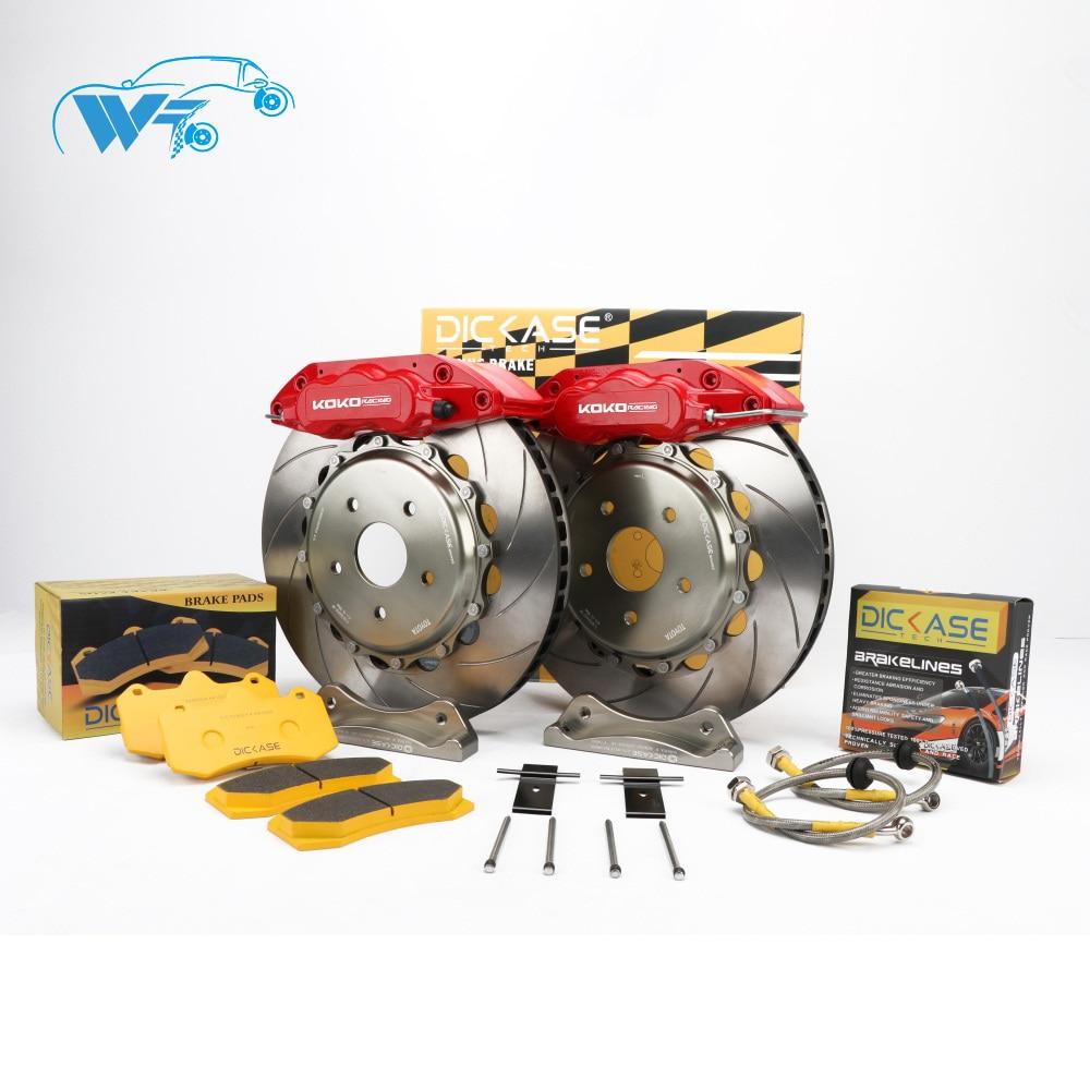 KOKO RACING WT7040 brake system car yellow brake caliper 362*32mm J hook disc 19 inches front wheel for BMW 330d E91 LCI 2010