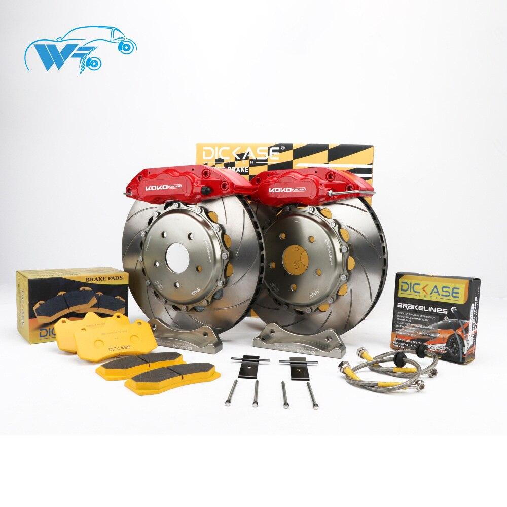 KOKO RACING modified cars WT7040 brake system cars brake caliper 362*32mm brake drilled disc for volkswagon mk7 golf R