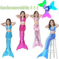 Sales 3 10Y Lovely Baby Girls Children Mermaid Tail Princess Dress Swimsuit Costume Bikini Swimwear Bathing