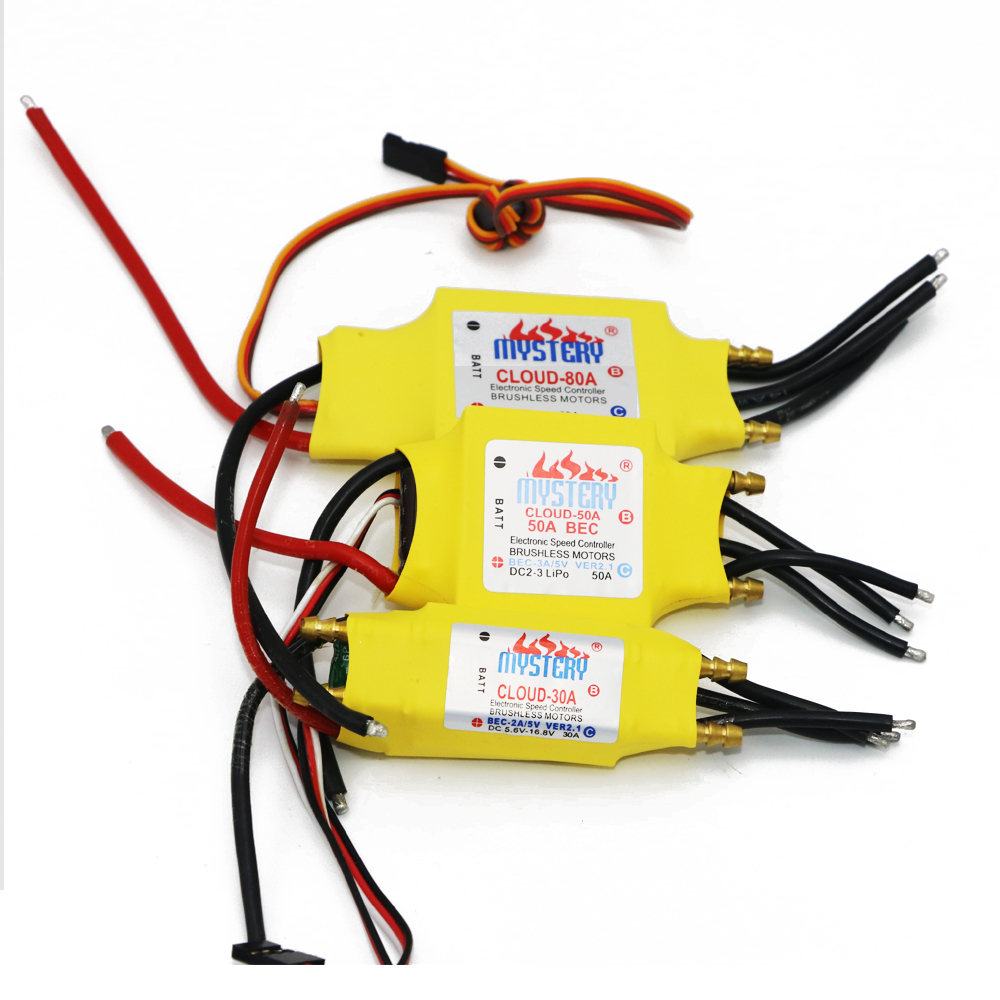 цена на 1pcs Mystery Cloud 2-7S 30A/50A/80A/100A/200A ESC 5V/3A 5V/5A UBEC Brushless Speed Controller ESC For RC Boat UBEC 200A/S