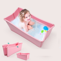 Baby Bath Tub Children Folding Bath Baby Swimming Pool Newborn Can Enjoy Bath Tub Newborn Toiletries Baby Shower Cushion