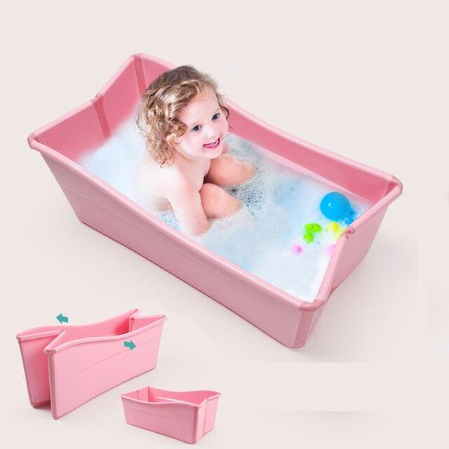 Baby Bath Tub Children Folding Bath Baby Swimming Pool Newborn Can ...