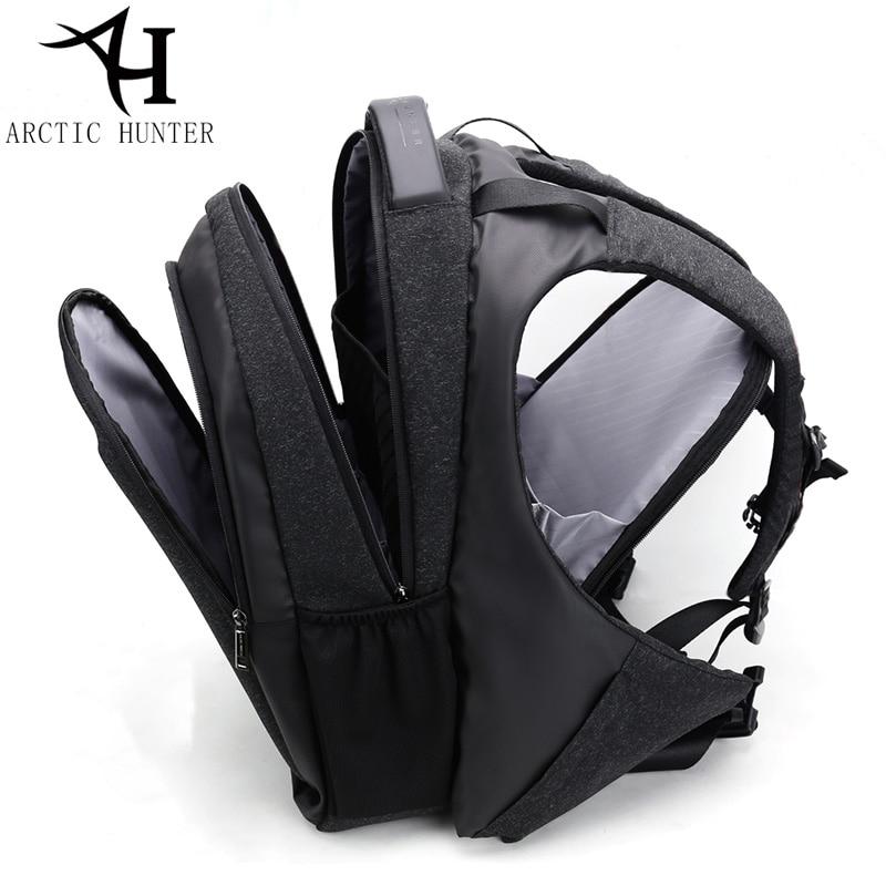 Arctique HUNTER USB chaud sac à dos homme affaires voyage 15.6 sac à dos pour ordinateur portable hommes décontracté grand sac à dos sac 2018 nouveau Design