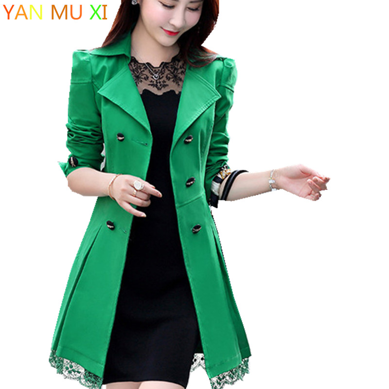 Winter Long   Jackets   New Brand 2017 Spring Female Coat Casual Military Olive Green Bomber   Jacket   Women   Basic     Jackets   Plus Size
