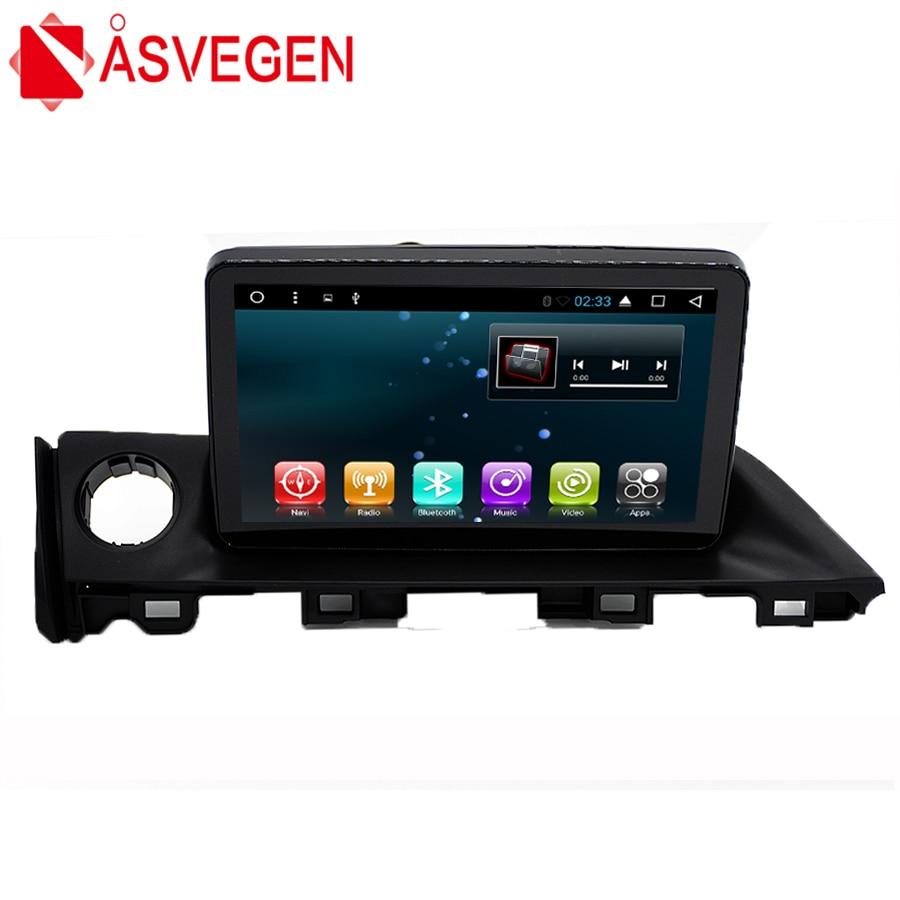 Asvegen Car Stereo Radio For Mazda Atenza 6 2017 Android 6.0 Quad Core 9 inch GPS Navigation Bluetooth Multimedia Audio Player