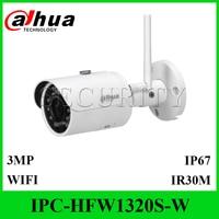 Dahua IPC HFW1320S W 3MP Mini Bullet IP Camera Infrared CCTV Camera Express Shipping HFW1320S W