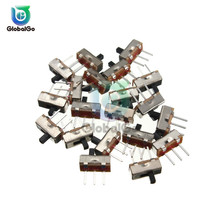 цена на 5pcs/Lot Toggle Switch 2 Position SPDT 1P2T 3 Pin PCB Panel Mini Vertical Slide Switch SS12D00G3 Electrical Switches
