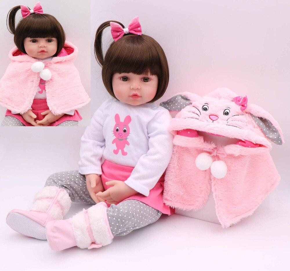 Adorável bebes reborn bonecas menina 24