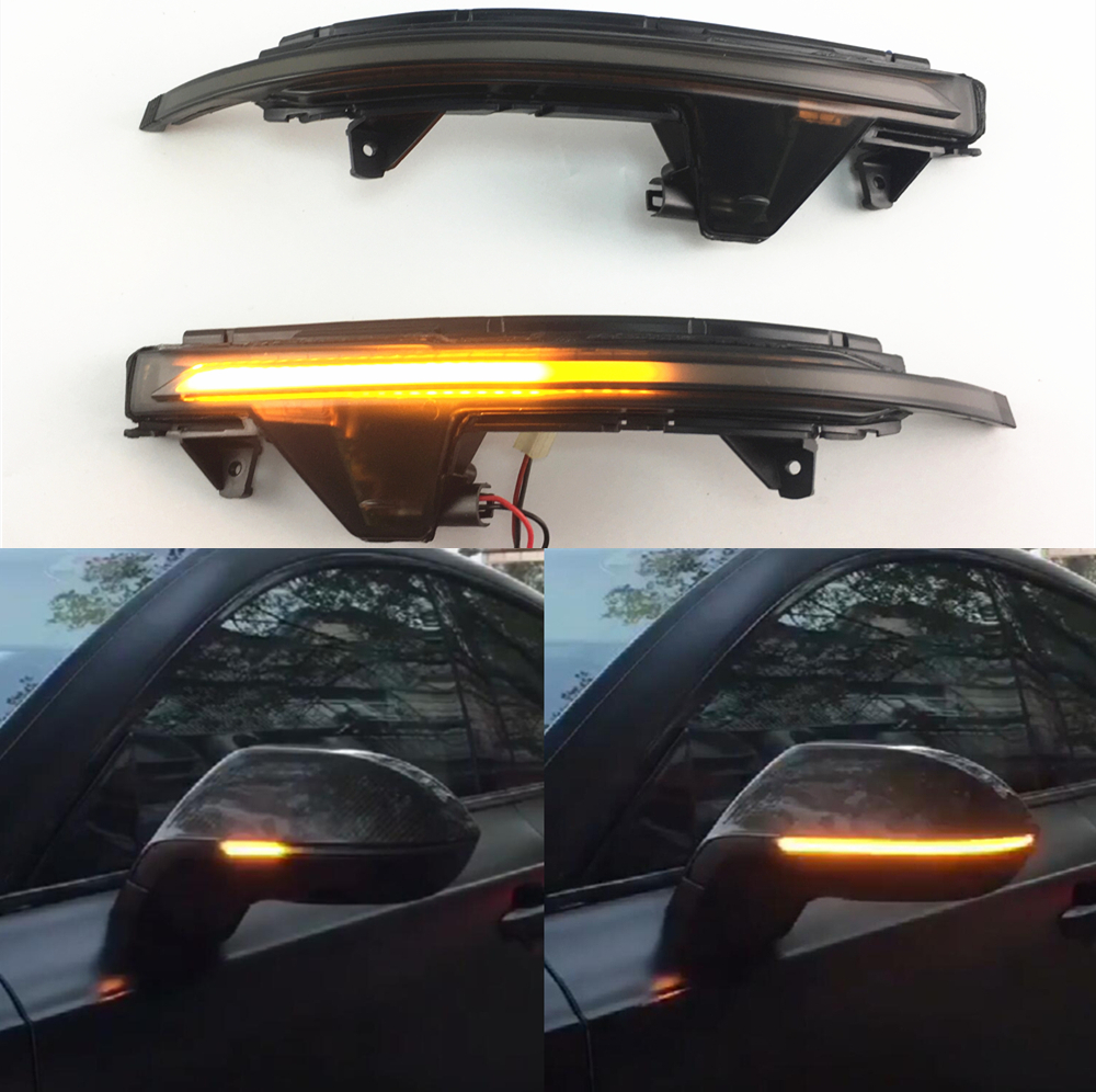 Car LED Dynamic Blinker Indicator Rearview Mirror Light For Audi A7 A7 S7 RS7 4G8 2010 2017