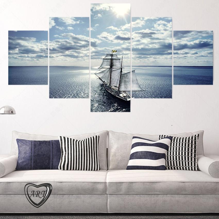 unidades yate moderno de la lona de arte cuadros decoracion lienzo de arte pintura al