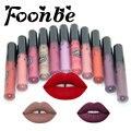 Foonbe Marca de Maquillaje Mate Lápiz Labial Líquido brillo de Labios Rojos brillo de labios Señoras Elegante Labio Batom Maquiagem