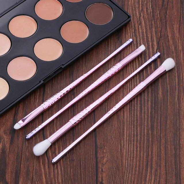 Professional 7pcs Unicorn Thread Makeup Brush set Rainbow Make Up Brushes Blending Powder foundation eyebrow contour Brush T 3