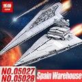 LEPIN 05027 05028 Emperor Fighters Ship legoINGs 10030 10221 Star Destroyer Children Toys Starship Building Blocks Bricks Wars